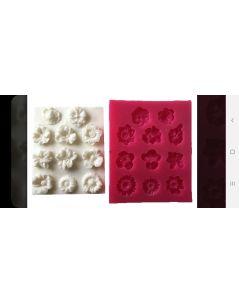 Çiçekler SİLİKON KALIP -  (10*8,5 CM)