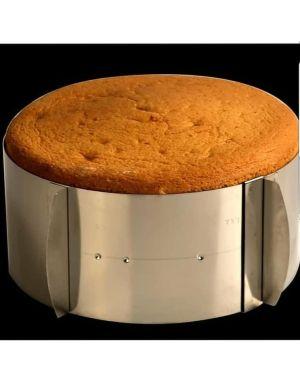 Ayarlanabilir daire pasta çemberi 15 cm yukseklik 16-30cm çap arası
