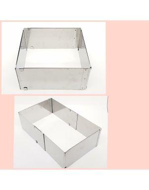 Ayarlanabilir kare pasta çemberi 15 cm yukseklik 20-40cm