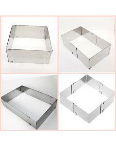 Ayarlanabilir kare pasta çemberi 10 cm yukseklik 20-40cm