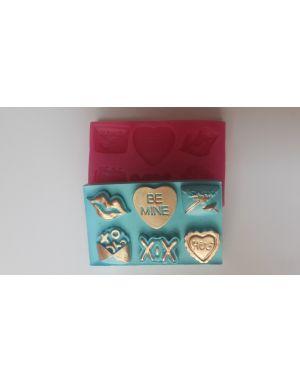 Sevgili Teması - xoxo - Kalp Silikon Kalıp Set