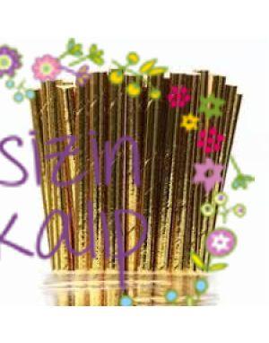 25li palette Altın Renk Pipet - cakepops ve atlıkarınca pastaların vazgeçilmezi